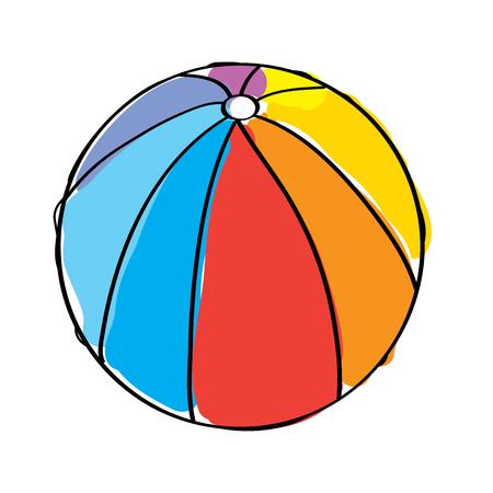 Wasserball Gummi Spielzeug spielen Bild Vektor-Illustration Standard-Bild - 95340272