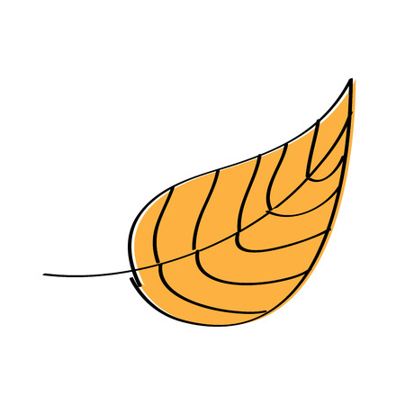 autumn leaf foliage natural icon vector illustration