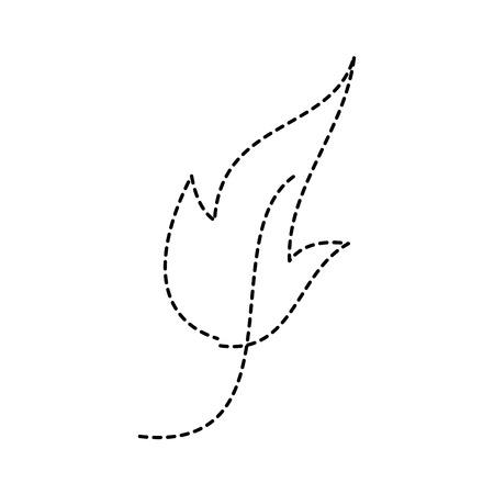 葉の葉植物のフロンド自然アイコンベクトルイラスト点線のデザイン