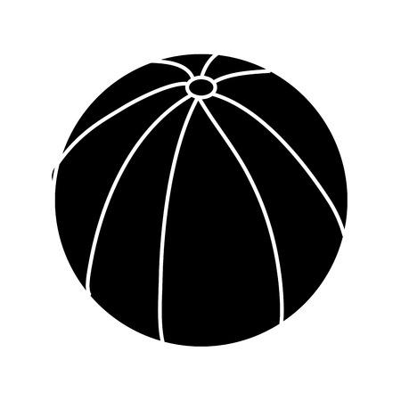 Wasserball Gummi Spielzeug spielen Bild Vektor Illustration weiß und Design Standard-Bild - 95335697