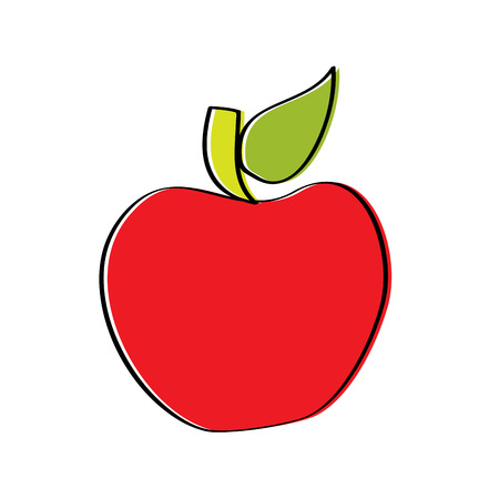 red fruit tasty apple delicious food vector illustration Stock Vector - 95339921