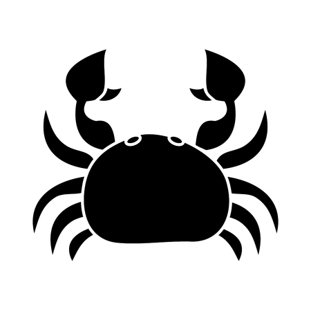 sea wild life crab marine animal image vector illustration black and white design