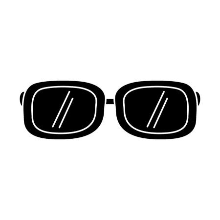 sunglasses fashion summer accessory trendy vector illustration black and white design