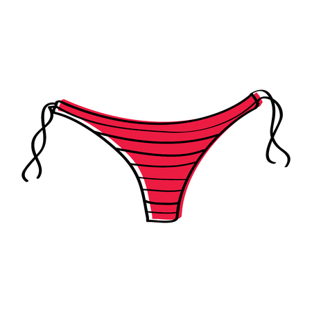 swimming panties underwear summer clothes fashion vector illustration