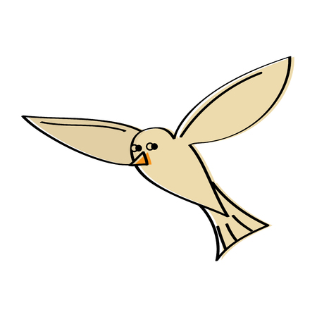 Flying Sea White Bird Möwe Tier Vektor-Illustration Standard-Bild - 95336952