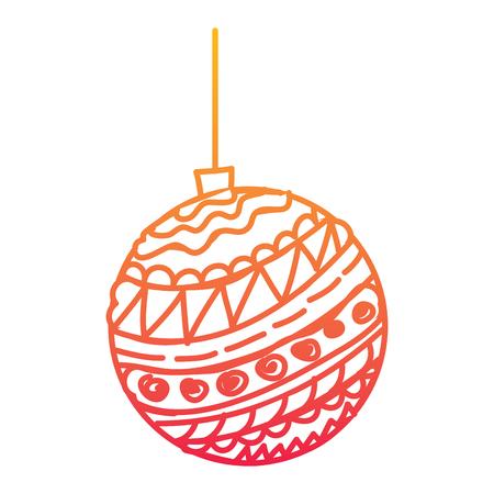 Decorative christmas ball design Illustration