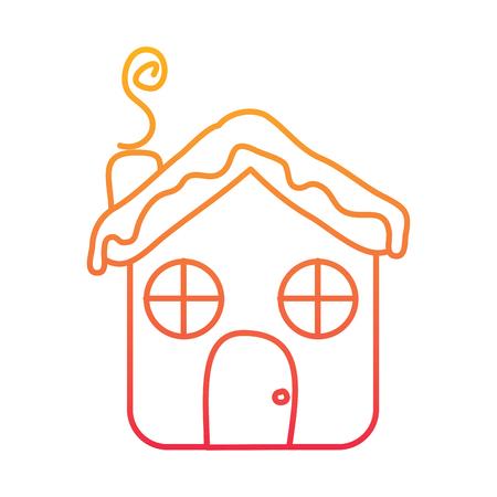 House ginger bread design Standard-Bild - 95362633