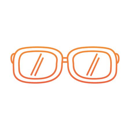 sunglasses fashion summer accessory trendy vector illustration degraded line color design