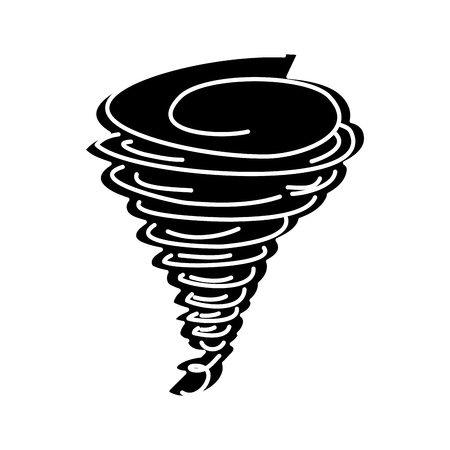 tornado season wind storm weather image vector illustration black and white design