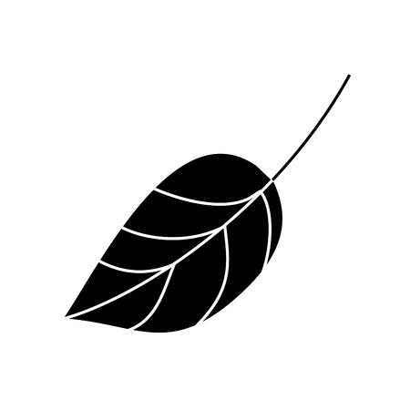 Leaf, botany frond natural icon vector illustration, black and white design Illustration
