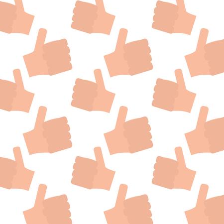 Hands showing like design