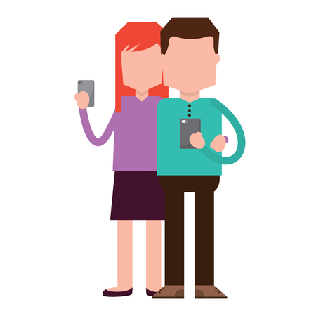 Woman and man illustration Illustration