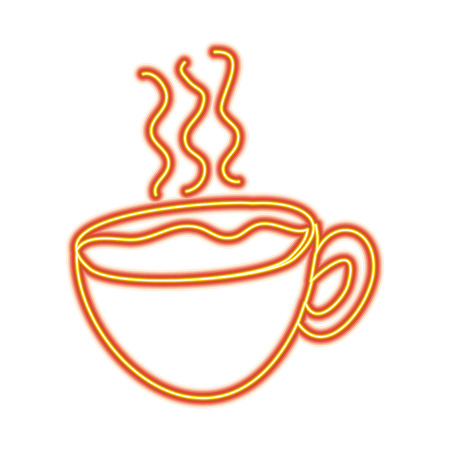 hot coffee cup fresh beverage vector illustration Illustration