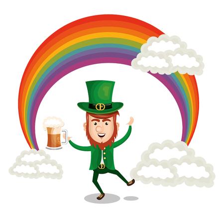 A leprechaun illustration for Saint Patrick's day celebration. Illustration