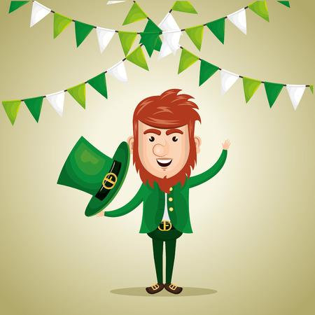 leprechaun saint patrick day character vector illustration design