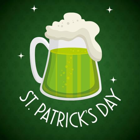 saint patrick day beer vector illustration design Illustration