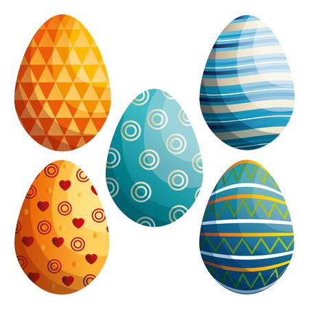Easter eggs vector illustration design.