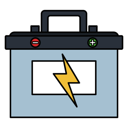 battery car isolated icon vector illustration design Vettoriali