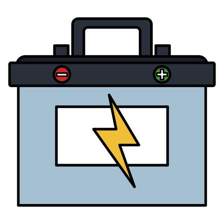 samochód na baterie ikona na białym tle projekt ilustracji wektorowych
