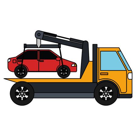 Car in truck icon vector illustration design. Ilustração