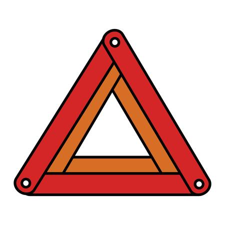 triangle caution sign icon vector illustration design