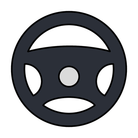 wheel control isolated icon vector illustration design