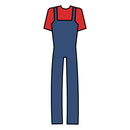 mechanic overalls isolated icon vector illustration design Illustration