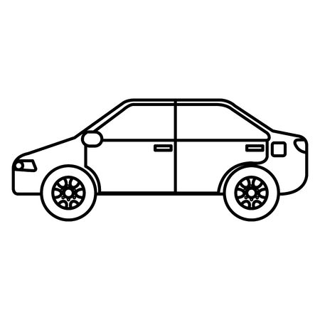 Car vehicle isolated icon vector illustration design.