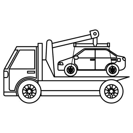 Car in truck icon vector illustration design.