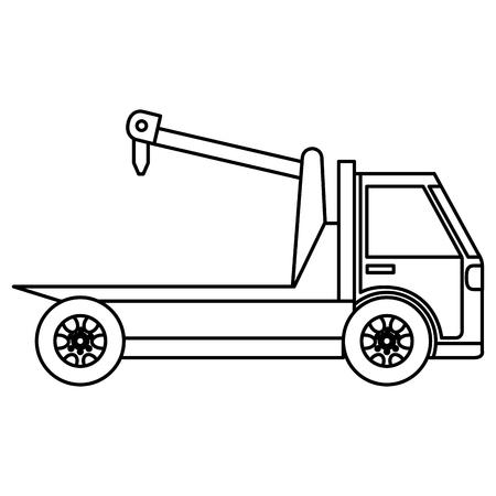 crane truck service icon vector illustration design Archivio Fotografico - 95478525