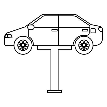 Automobile nella progettazione dell'illustrazione di vettore della piattaforma di sincronizzazione.