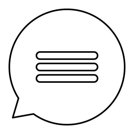 スピーチバブル孤立アイコンベクトルイラストデザイン  イラスト・ベクター素材