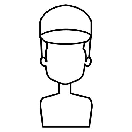delivery worker shirtless avatar character vector illustration design Illustration