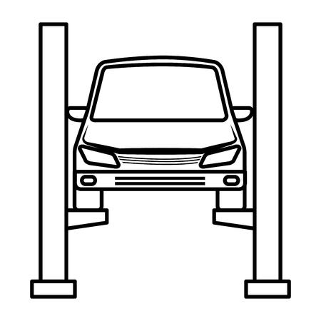 auto nel design di illustrazione vettoriale piattaforma di sincronizzazione