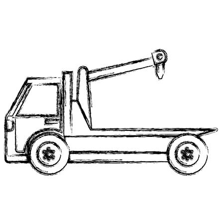 crane truck service icon vector illustration design Archivio Fotografico - 95368683