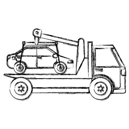car in truck icon vector illustration design 일러스트