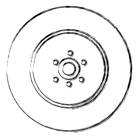 car wheel isolated icon vector illustration design  イラスト・ベクター素材
