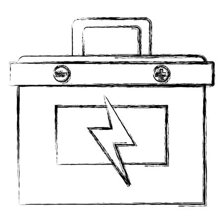 バッテリーカー孤立アイコンベクトルイラストデザイン