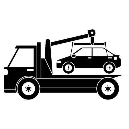 Car in truck icon vector illustration design. Illustration