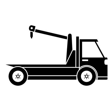 Crane truck service icon vector illustration design. Иллюстрация