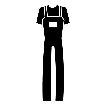 Mechanic overalls icon Illusztráció