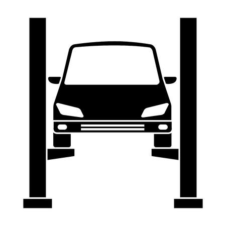 Car in synchronization platform vector illustration design.