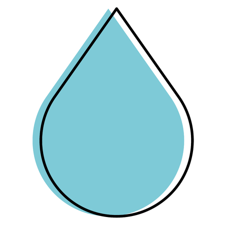 Drop liquid isolated icon vector illustration design. Stock Illustratie