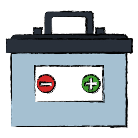 Battery car isolated icon vector illustration design Imagens - 95477841
