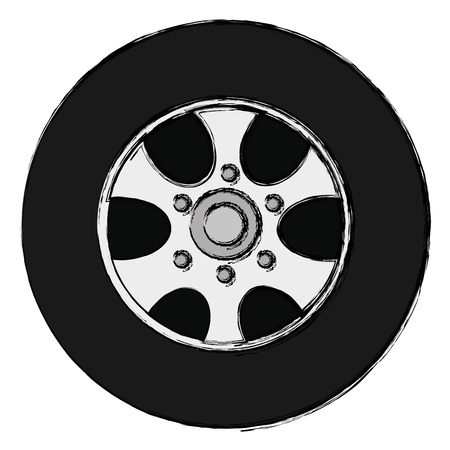 Car wheel isolated icon vector illustration design
