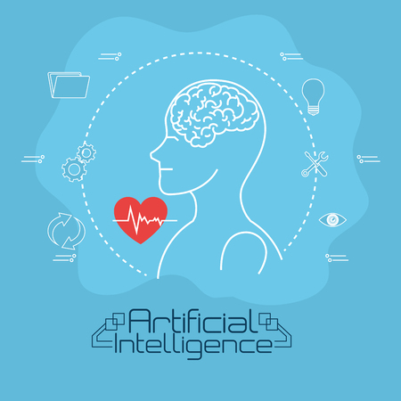 Artificial intelligence technology set icons vector illustration design.