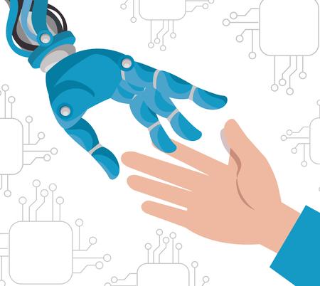 artificial inteligence technology set icons vector illustration design
