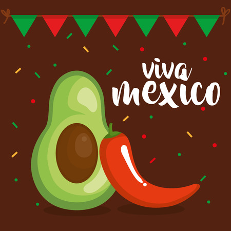 mexican culture vegetables icon vector illustration design