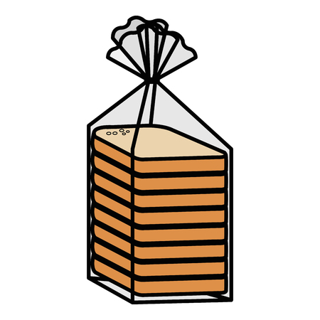 bread sliced bag icon vector illustration design