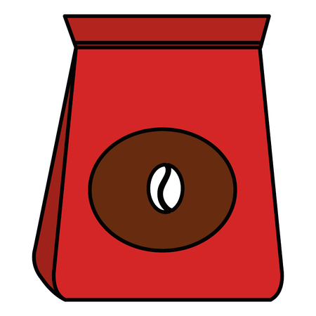coffee bag isolated icon vector illustration design
